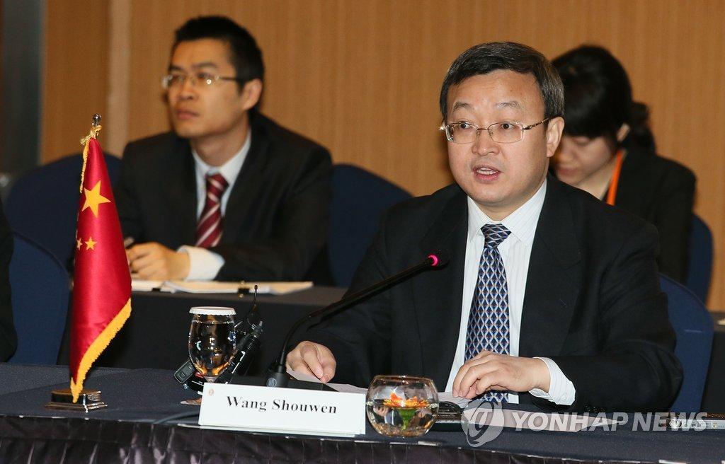 中国商务部部长助理王受文发言