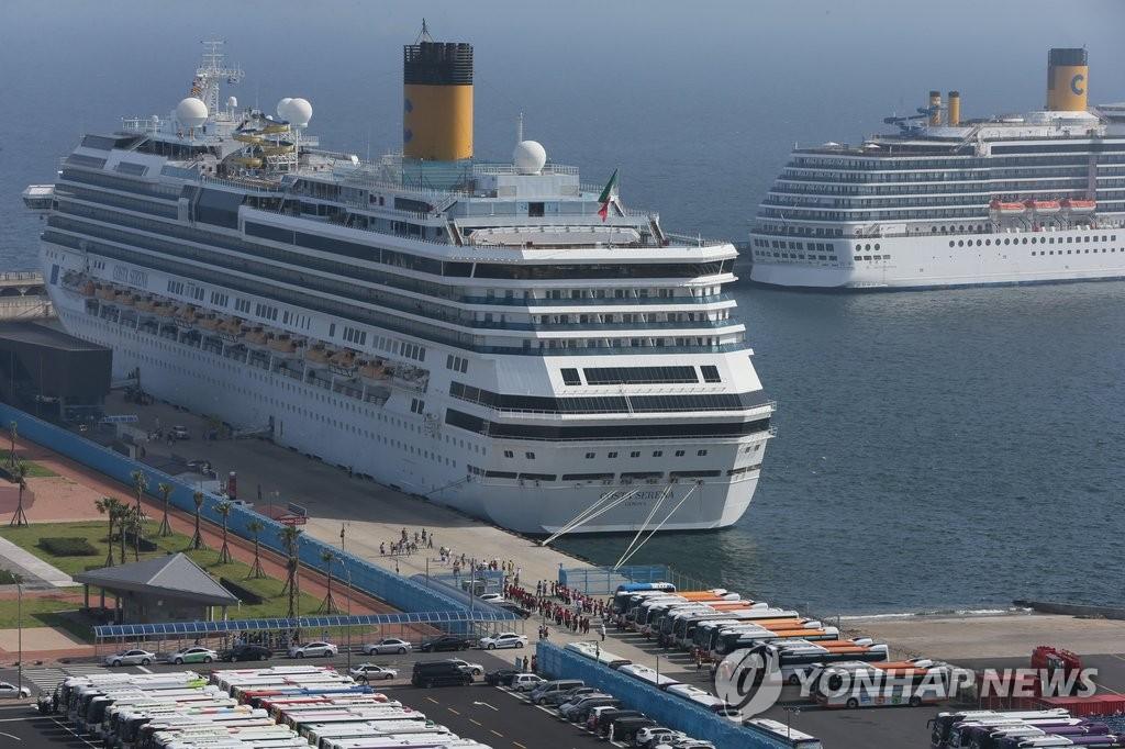 大型国际邮轮恢复赴韩行程