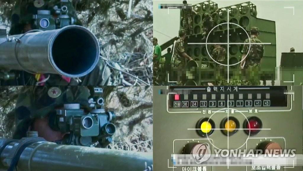 朝鲜播放瞄准韩方广播设施画面