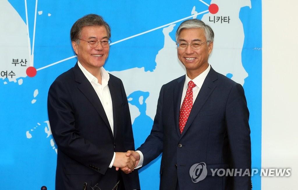 韩在野党党首会见中国大使