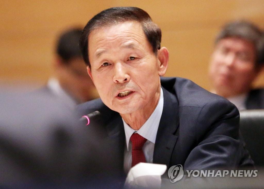 资料图片:韩国驻华大使金章洙(韩联社)