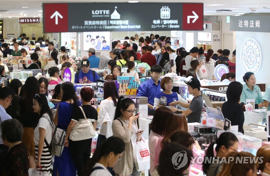 首尔明洞站是中国游客在韩最多光顾的地铁站