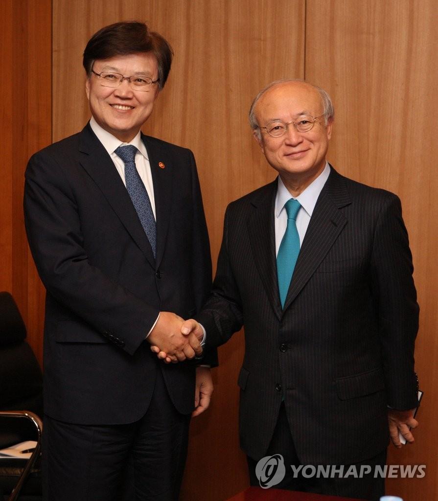 韩未来部长官会见IAEA总干事