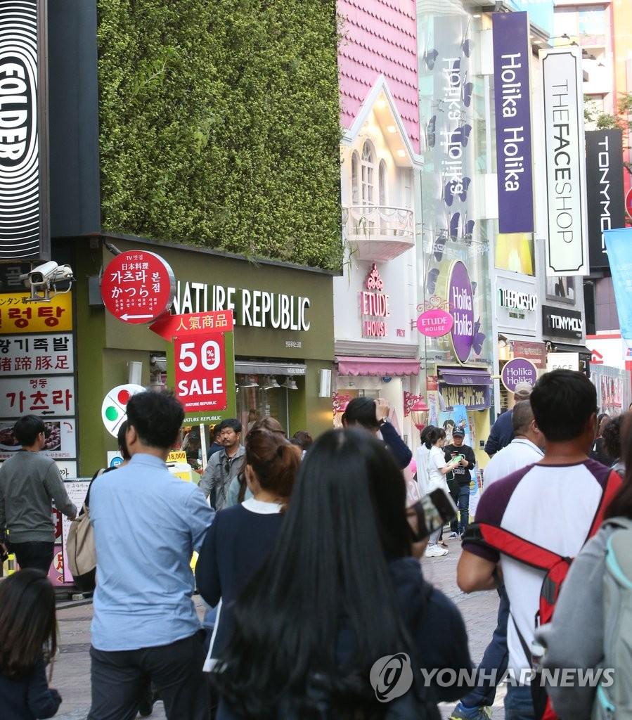 调查:半数韩国人不介意本土商号外文标识