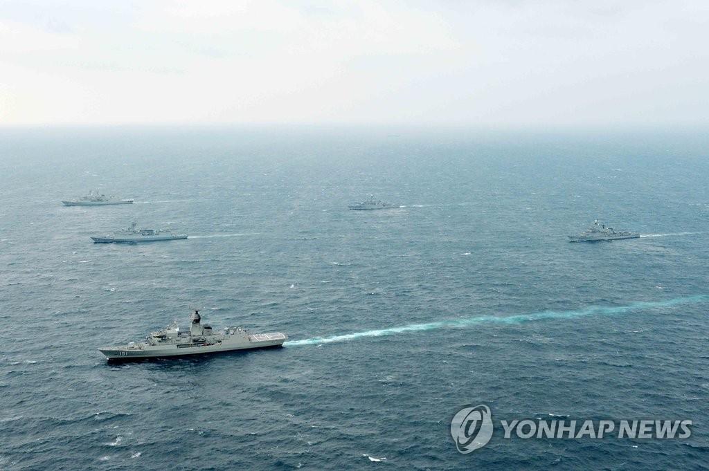 图为2015年10月举行的韩澳海军联演现场。(韩联社/海军提供)