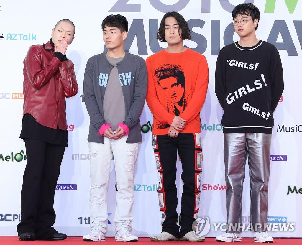 资料图片:乐队Hyukoh(韩联社)