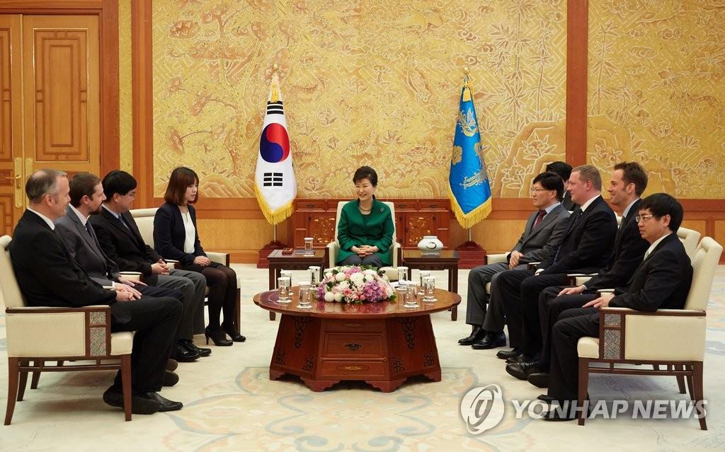 朴槿惠会见亚通组织代表