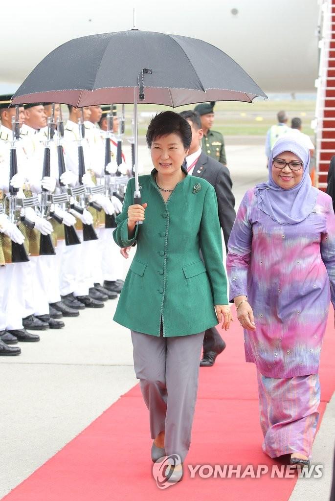朴槿惠抵达马来西亚