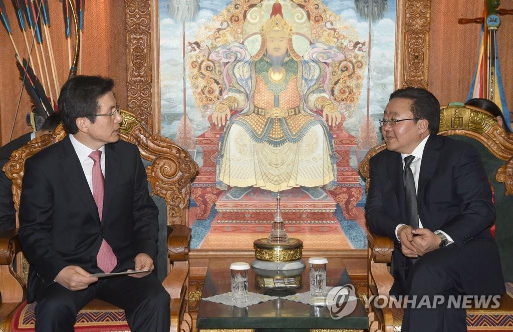 韩总理黄教安拜会蒙古国总统