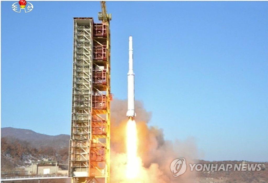 """朝鲜""""光明星4号""""发射现场照"""