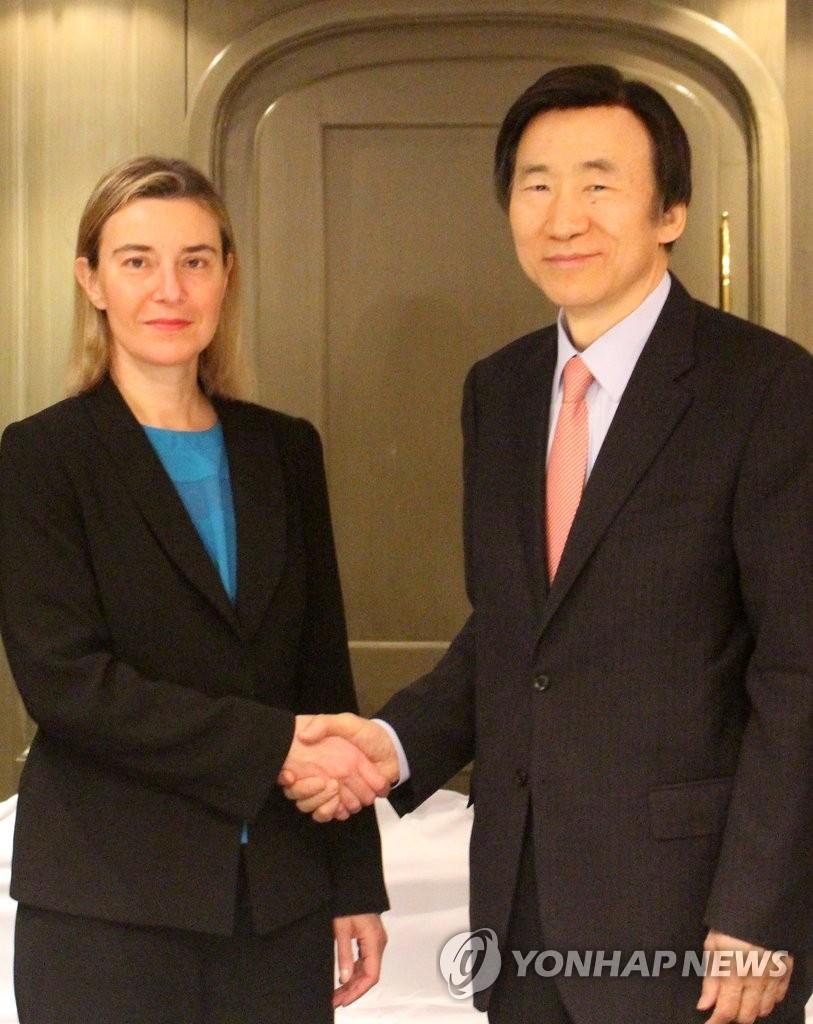 韩外长会见欧盟代表商讨制裁朝鲜方案