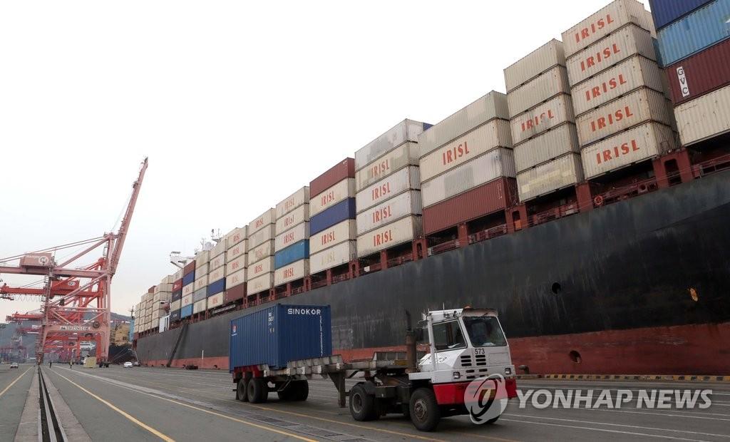 伊朗集装箱船时隔4年驶入釜山港