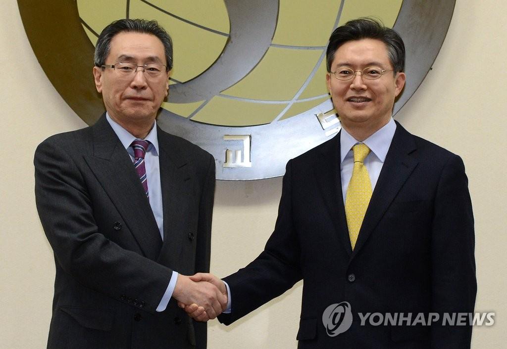 朝核六方会谈韩中团长
