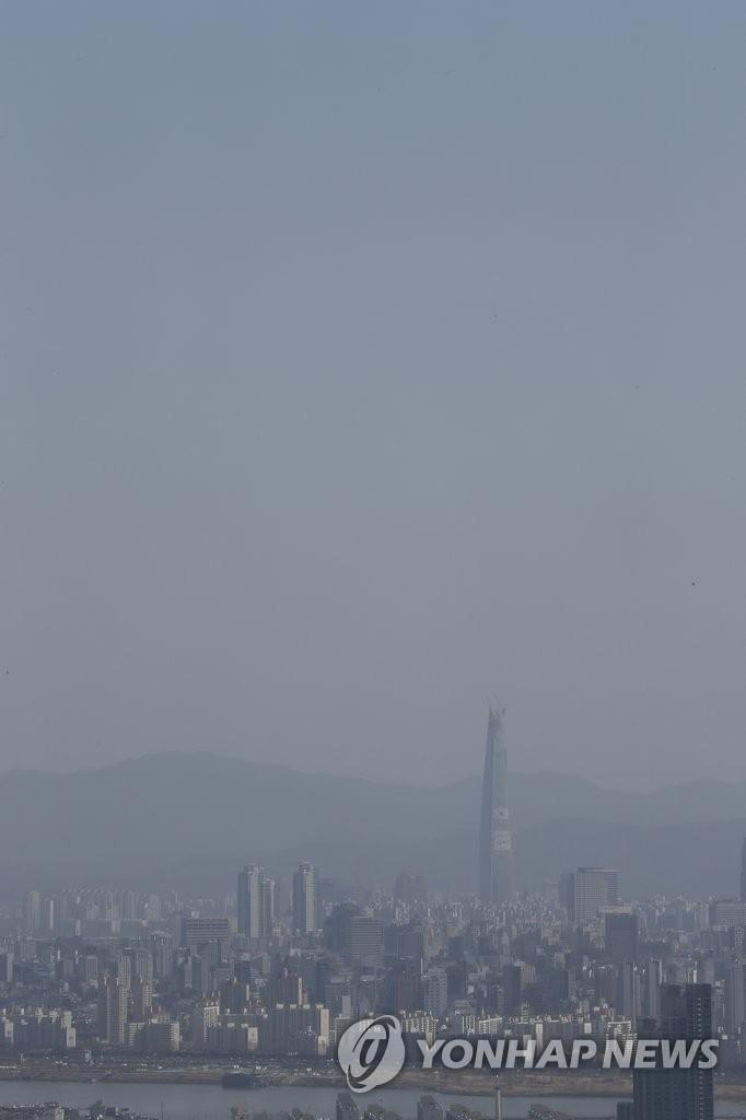 首尔上空灰蒙蒙