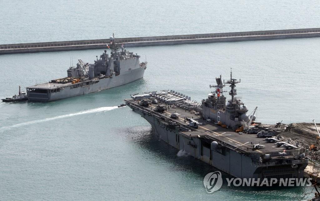 美军两栖攻击舰齐出动
