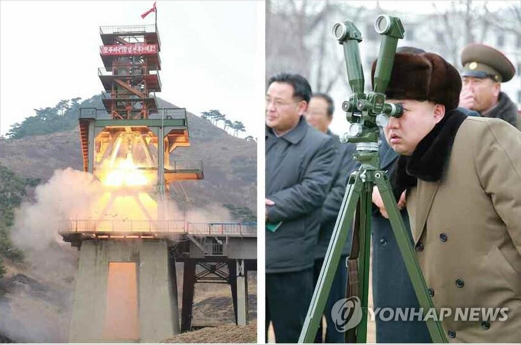 金正恩指导弹道火箭再入大气层环境模拟试验