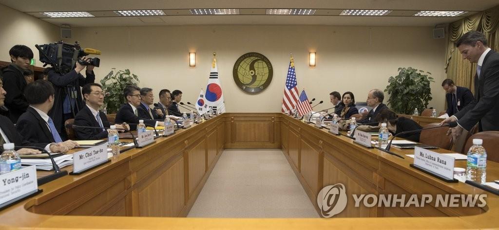 韩美对朝制裁高官会议