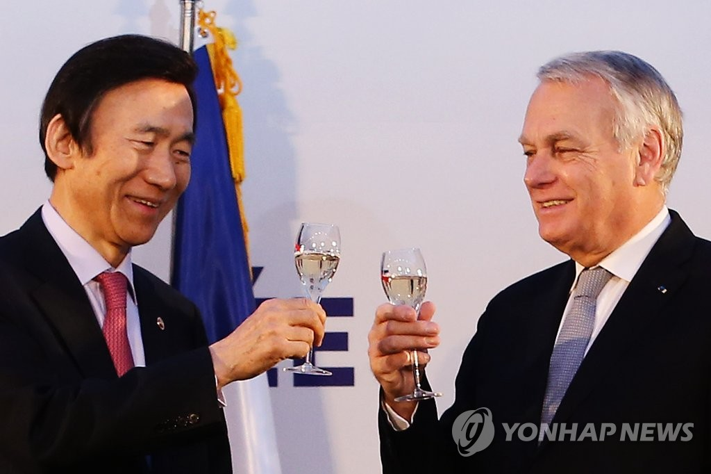 韩法外长出席两国建交130周年纪念论坛