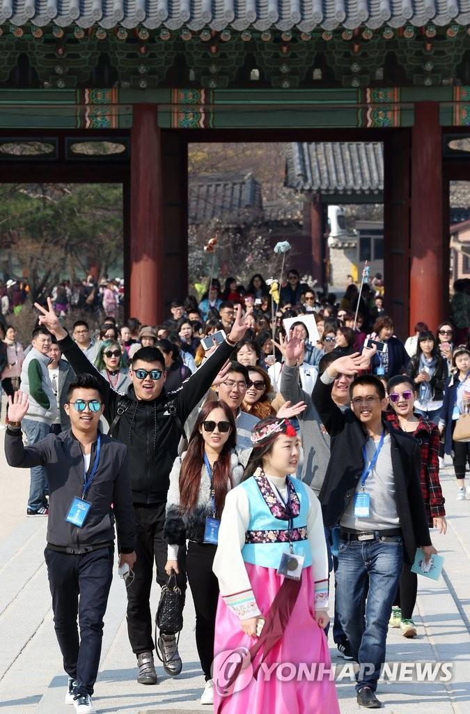 中国4千人旅游团访韩