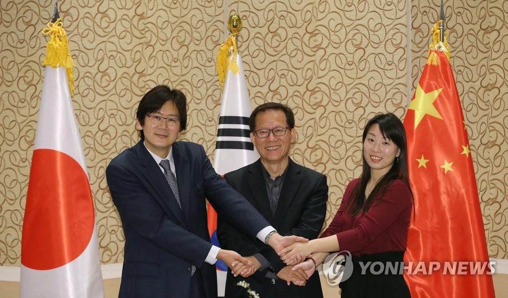 韩中日举行文化部长会议的处长级会议