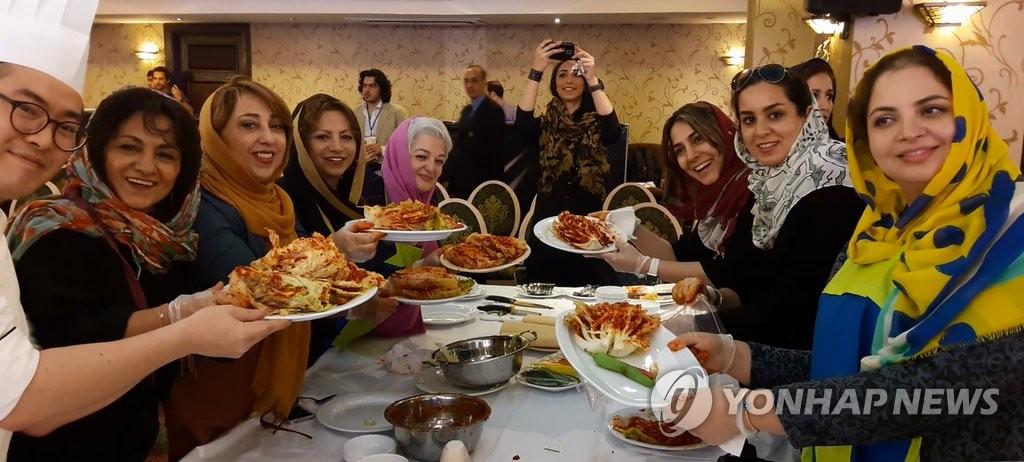 韩餐首次在伊朗正式亮相