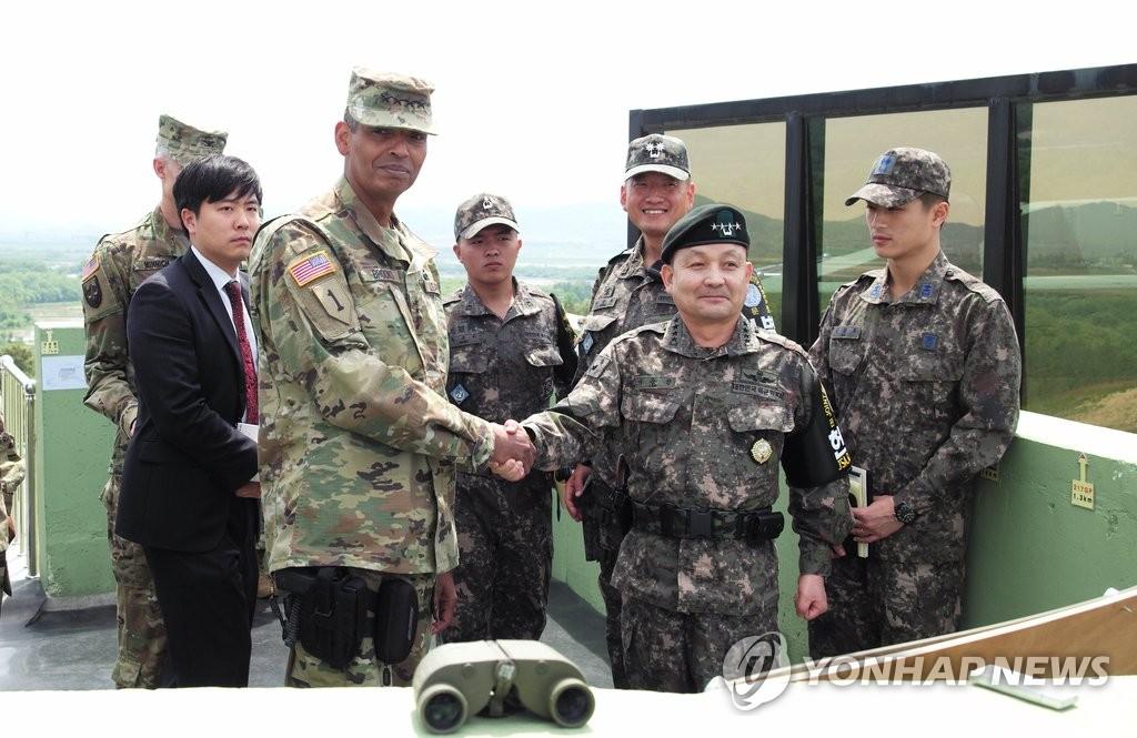 新任驻韩美军司令首访板门店