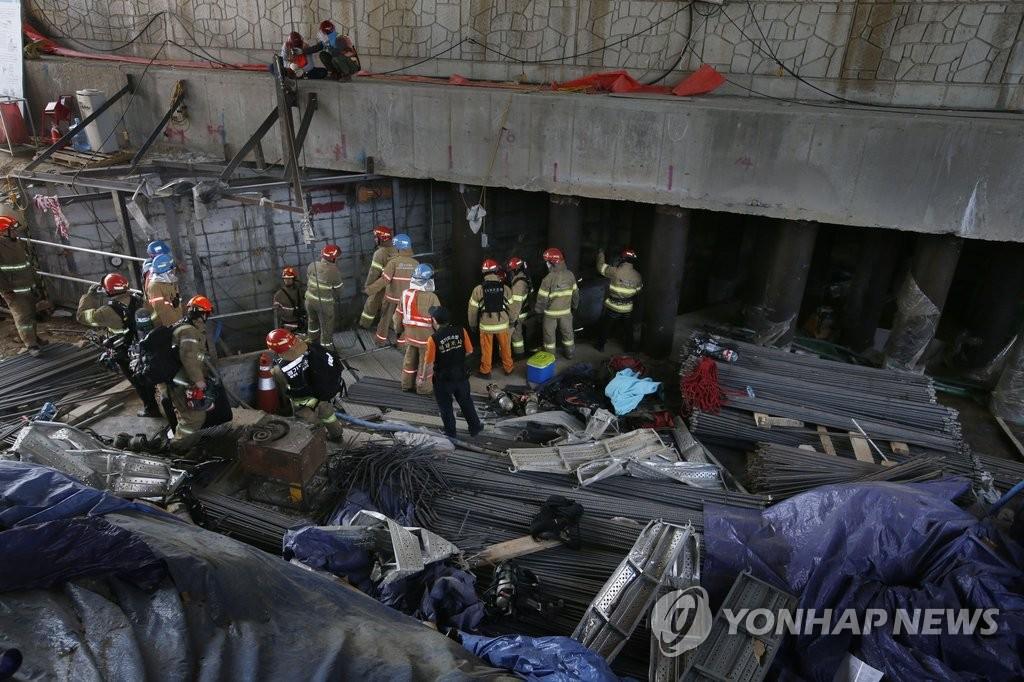 韩京畿道南扬州地铁施工现场发生坍塌事故