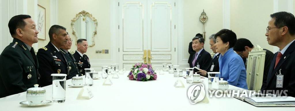 朴槿惠接见新任韩美联合司令
