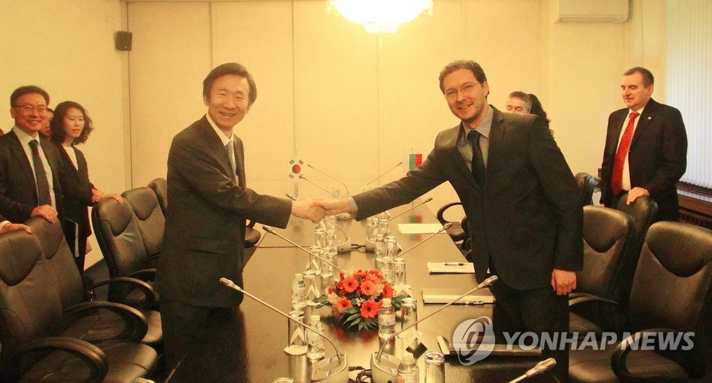 韩外长会晤保加利亚外长