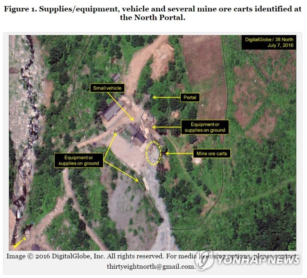 朝鲜丰溪里核试验场高度活跃