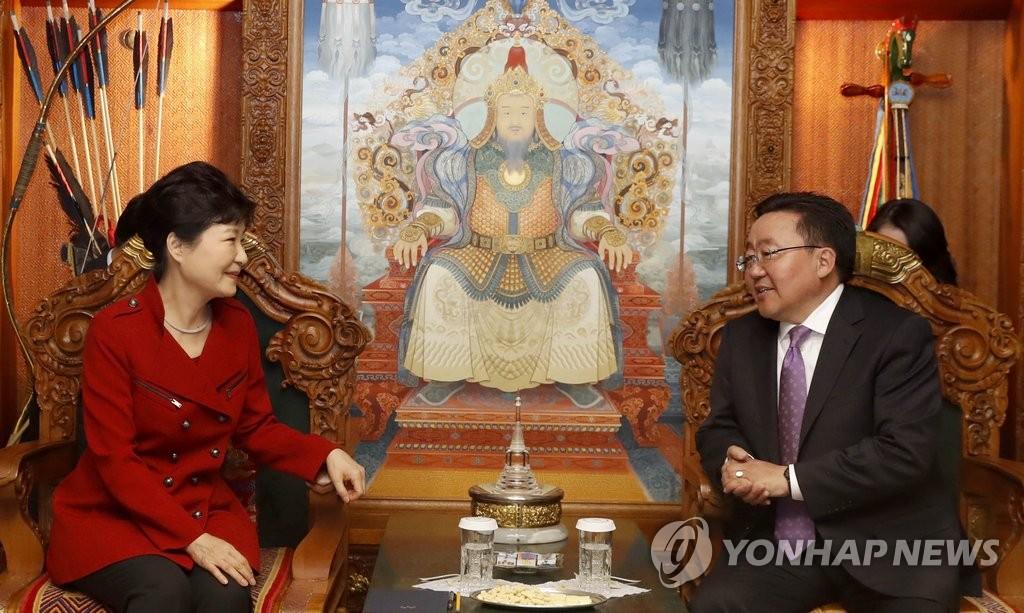韩蒙元首会晤