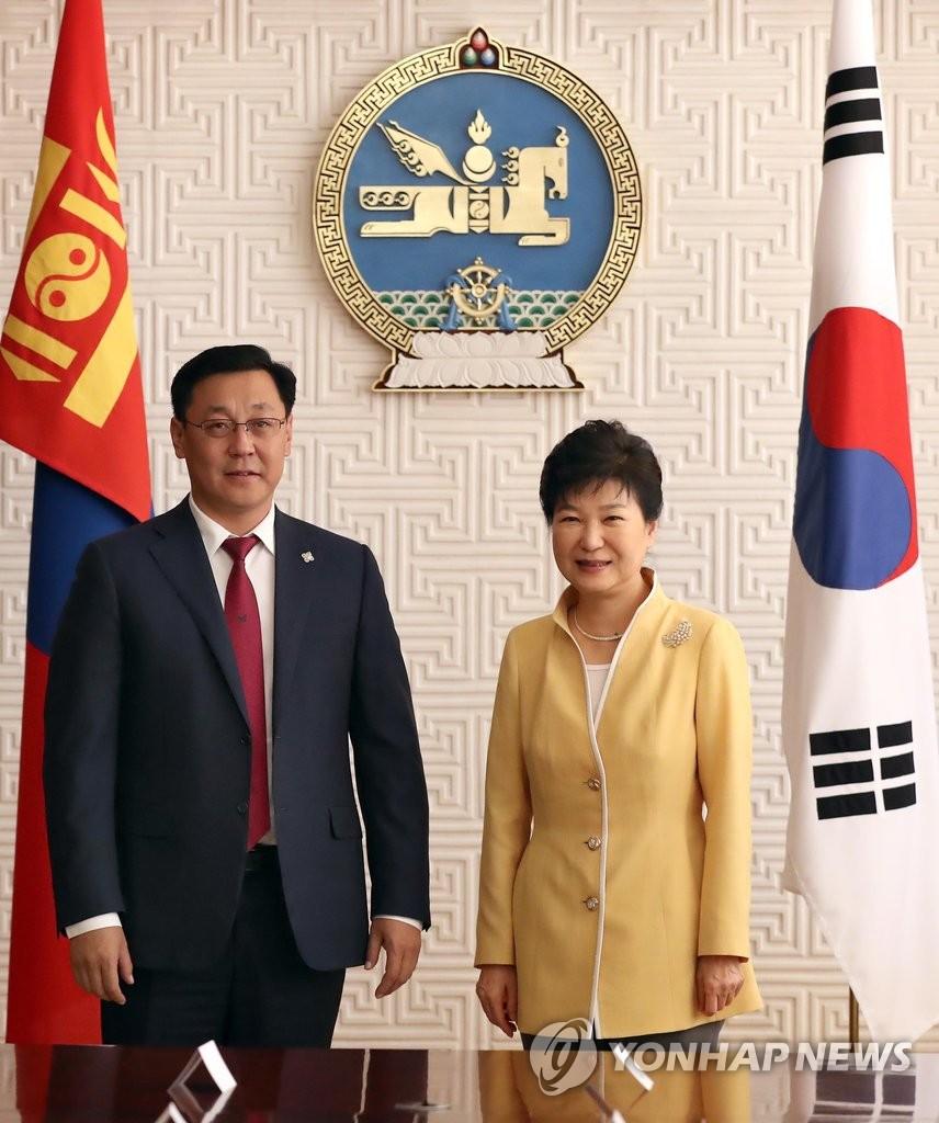 朴槿惠会见蒙古国总理