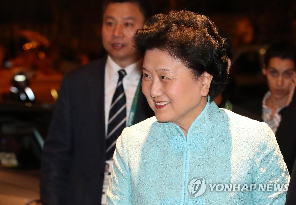 资料图片:刘延东(韩联社)
