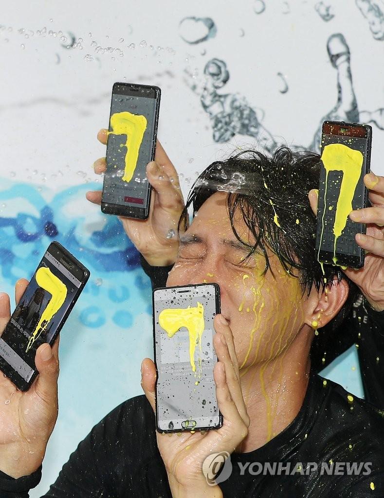 Galaxy Note 7防水功能测试