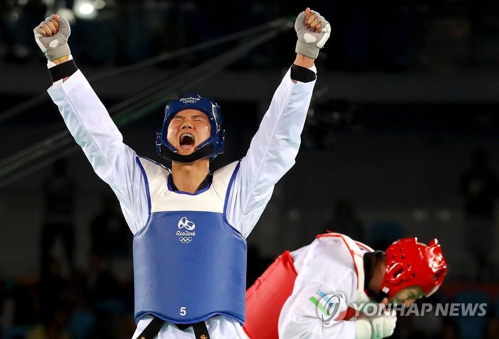 韩跆拳道选手车东旻摘铜