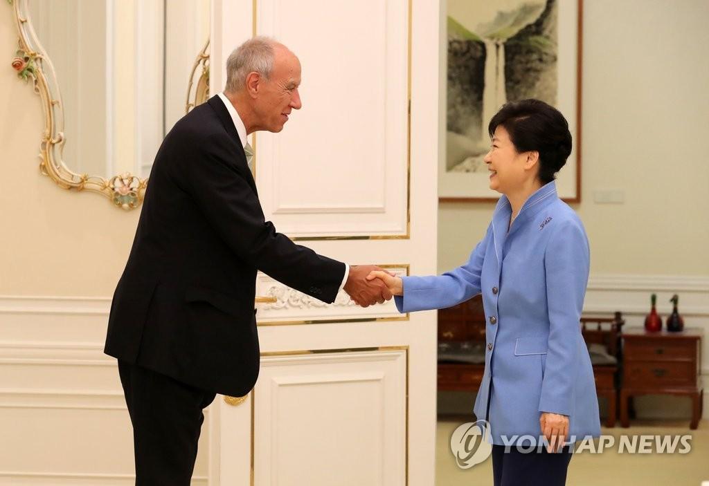 朴槿惠会见世界知识产权组织总干事