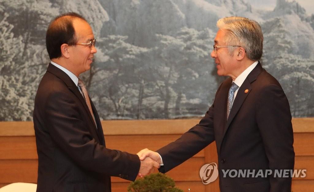 韩中文化部长在济州会晤