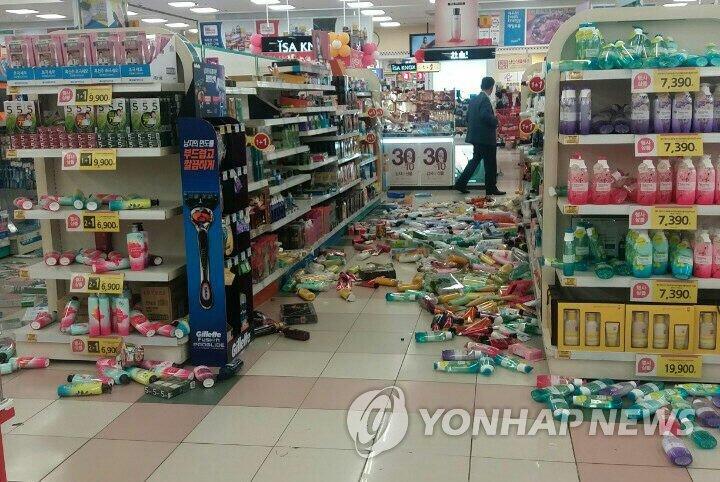 韩东南部地区发生5.8级地震