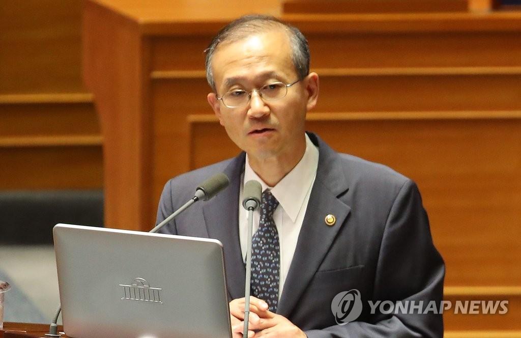 资料图片:外交部第一次官林圣男(韩联社)