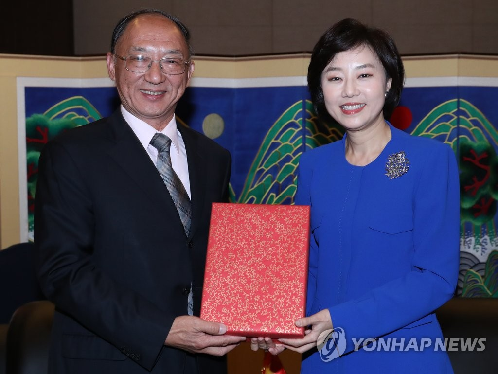 韩文体部长官会中国体育总局局长