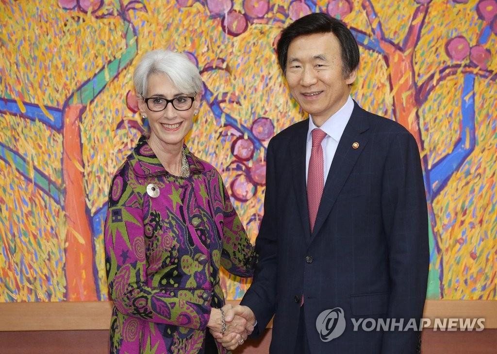 韩外长接见美前副国务卿