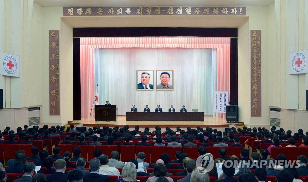 朝鲜庆祝红十字会成立70周年