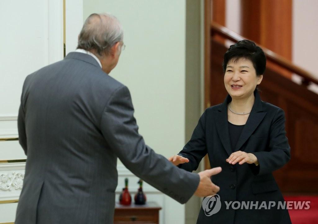 朴槿惠会见OECD秘书长