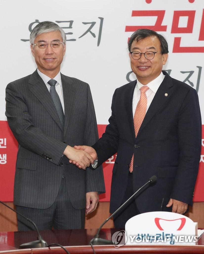 韩执政党党首会见中国驻韩大使