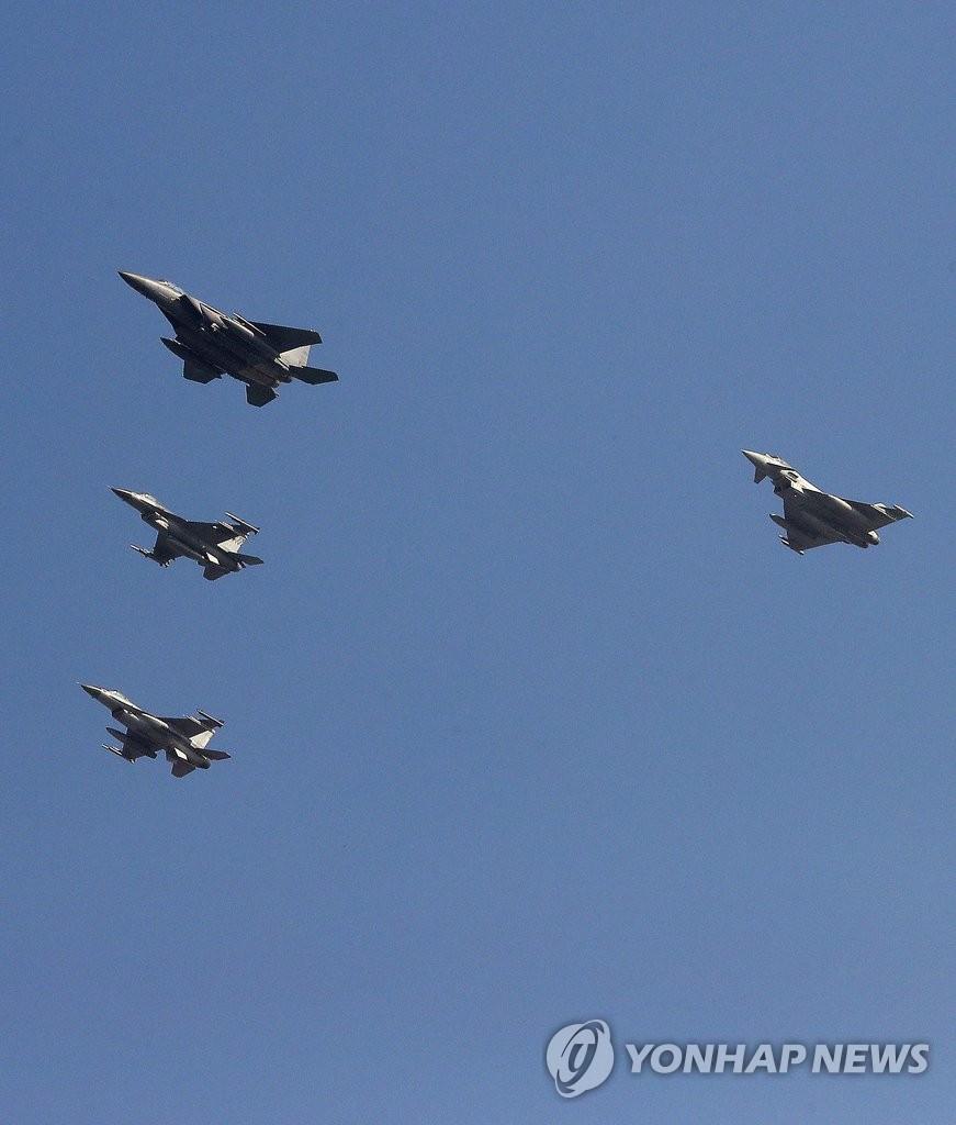 韩美英空军联演