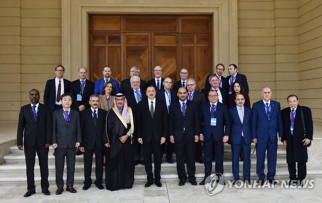 世界通讯社大会与会嘉宾拜访阿塞拜疆总统