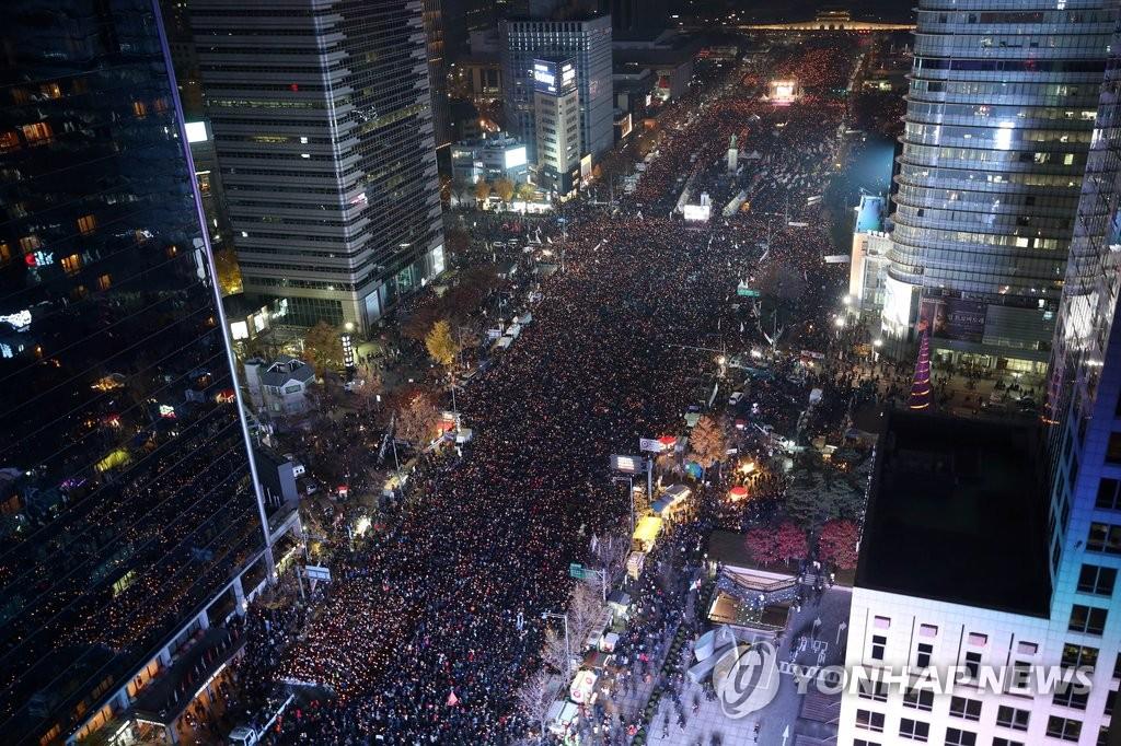 韩民众再次集会要求朴槿惠下台
