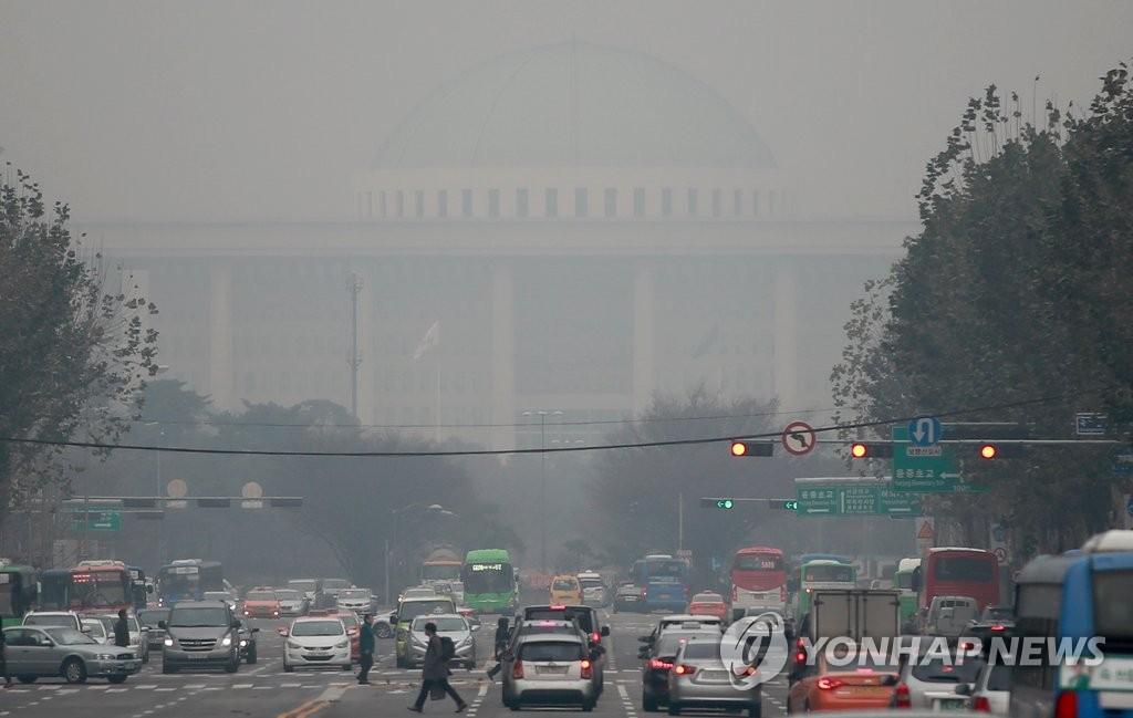 首尔现雾霾天气