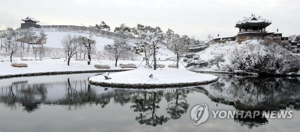 水原市绝美雪景