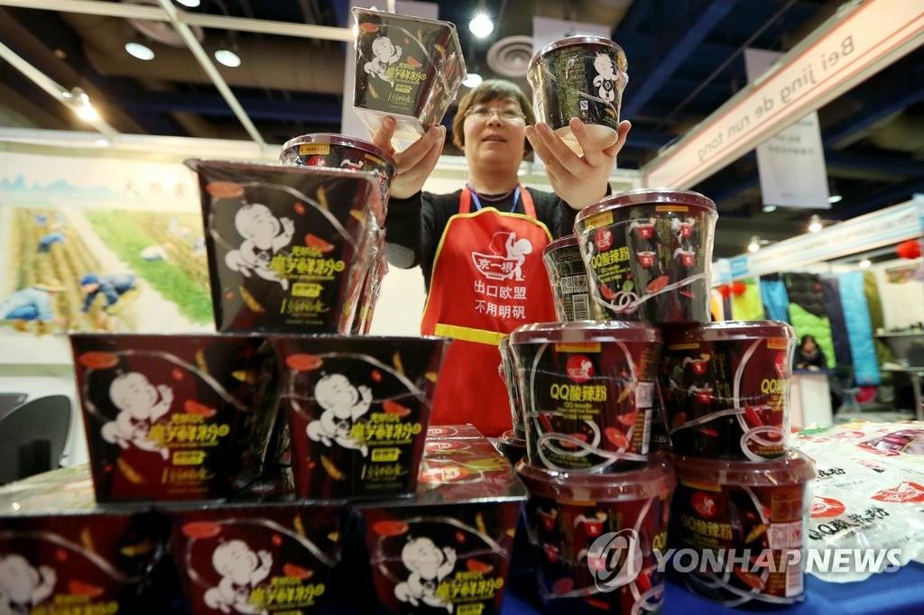 中国方便食品亮相韩国